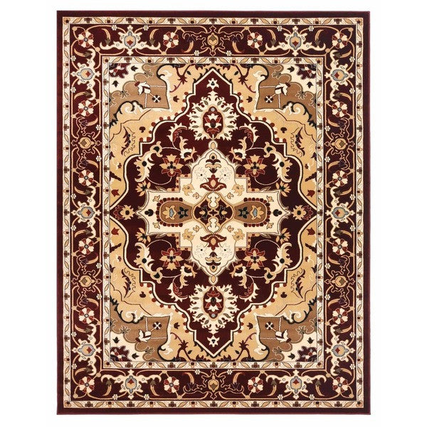 "Liberty Oriental Rugs Brillante Machine Made Red Area Rug (7'6"" x 9'10 Rectangle)"