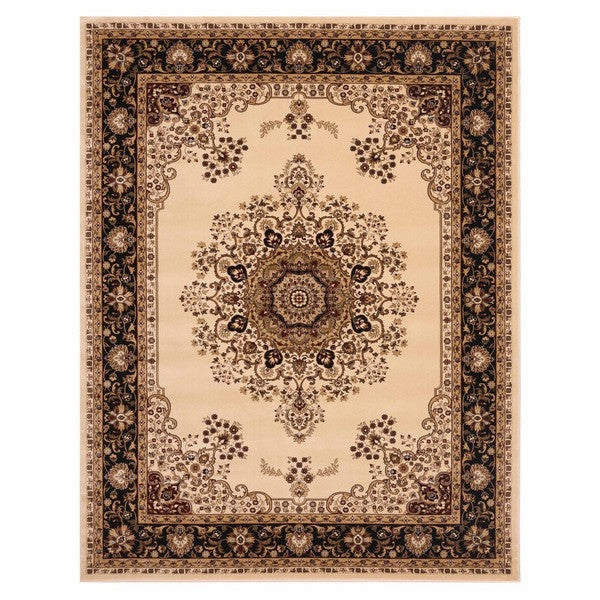 "Brillante Machine Made Cream Area Rug (4'11"" x 7'8"" Rectangle) - Sky Home Decor"