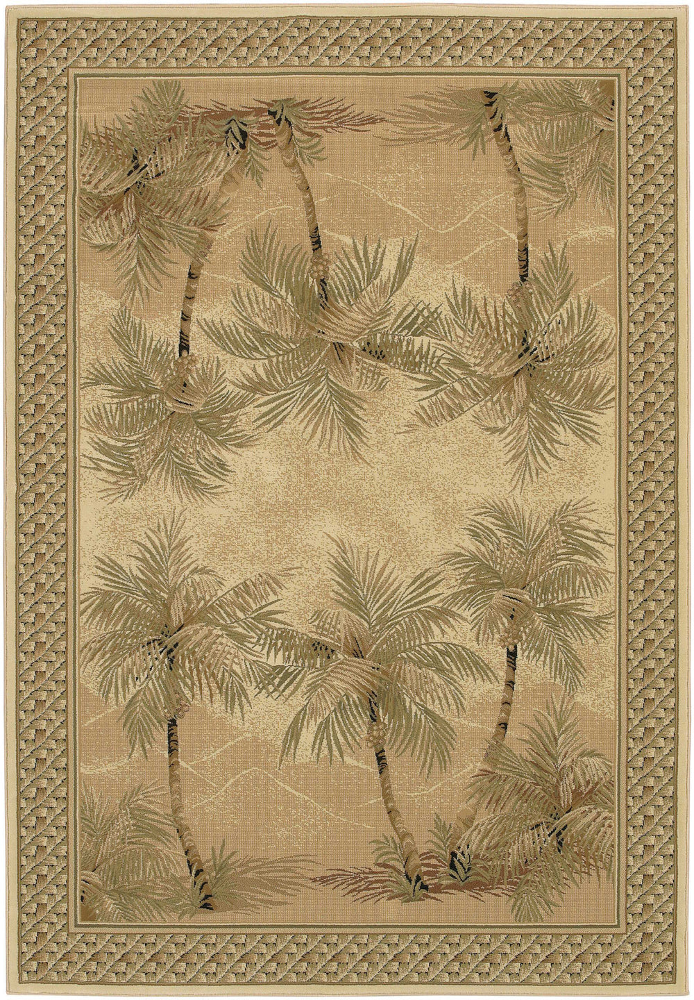 Couristan Everest Palm Tree Area Rug
