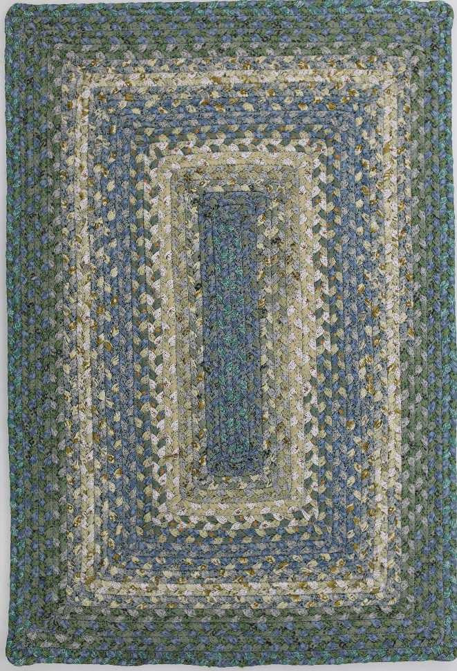 Homespice Decor Cotton Braided Concentric Area Rug