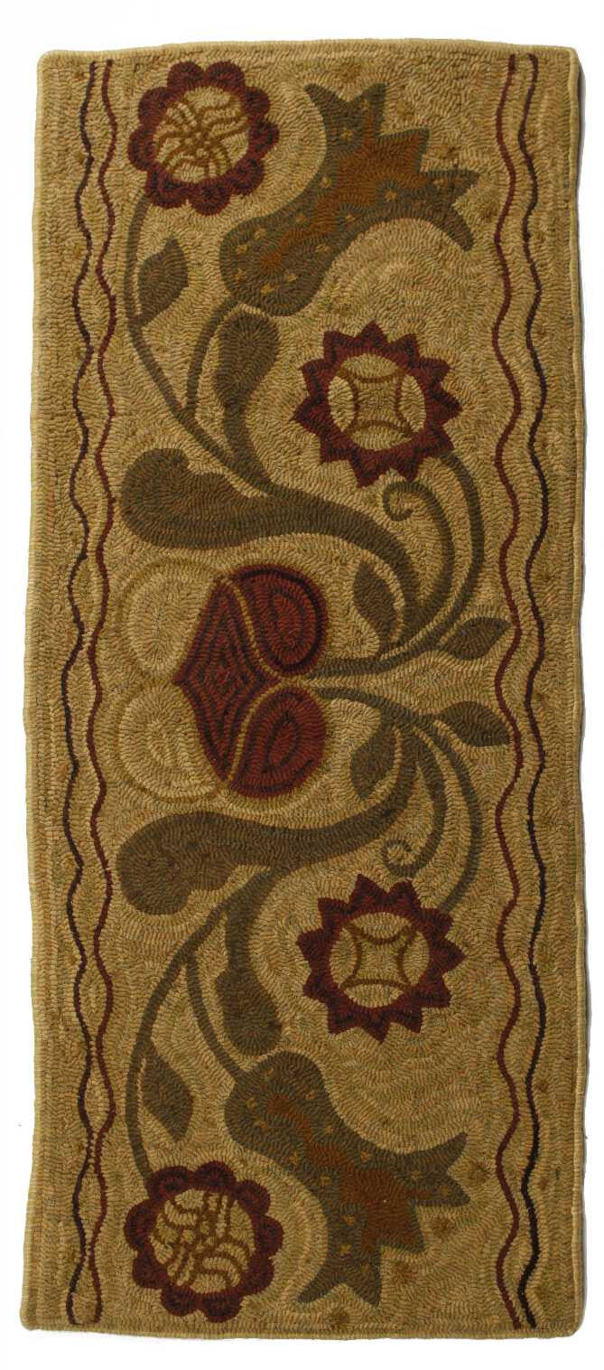 Homespice Decor Hooked Padula Flowers Area Rug
