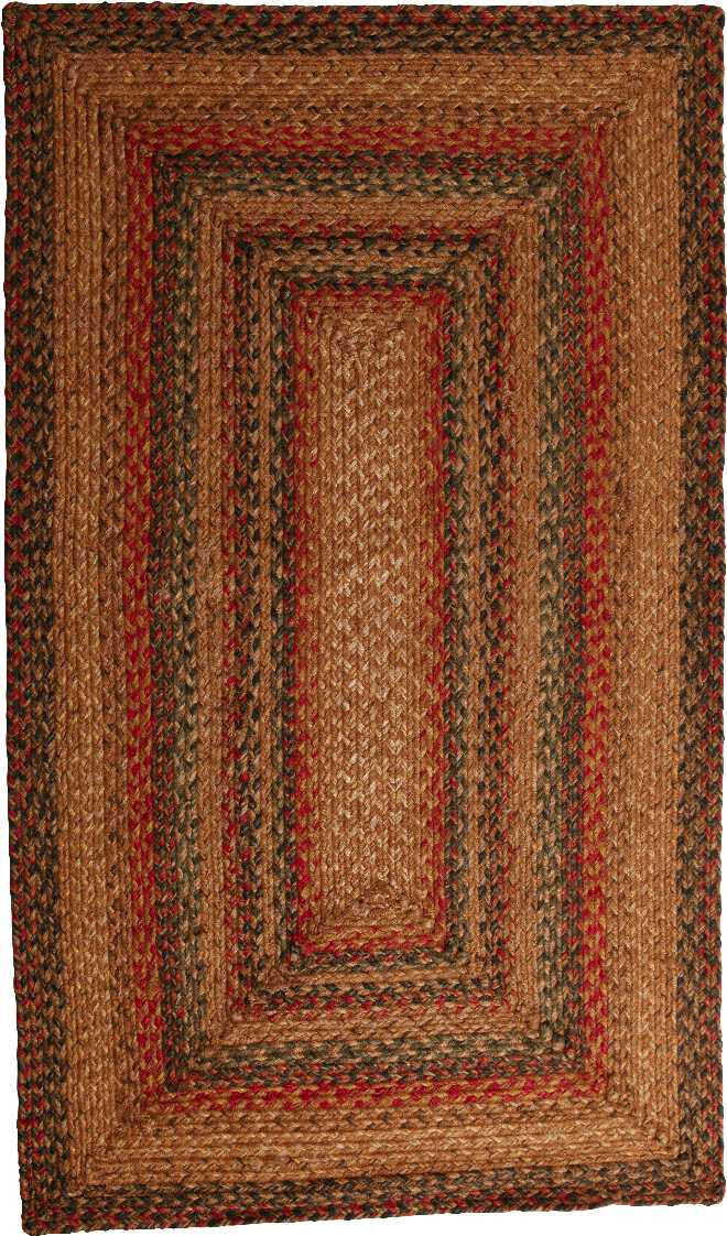Homespice Decor Jute Braided Timber Trail Area Rug