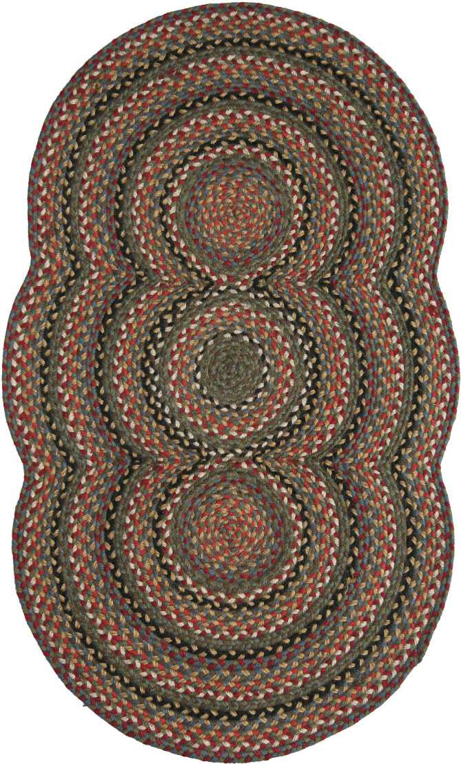 Homespice Decor Jute Braided Trio Grace Area Rug