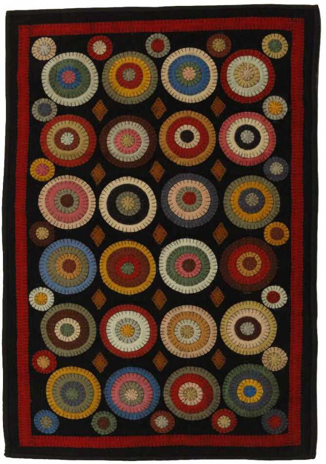 Homespice Decor Penny Coin Rug Area Rug