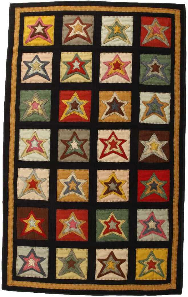 Homespice Decor Penny Star Patch Area Rug