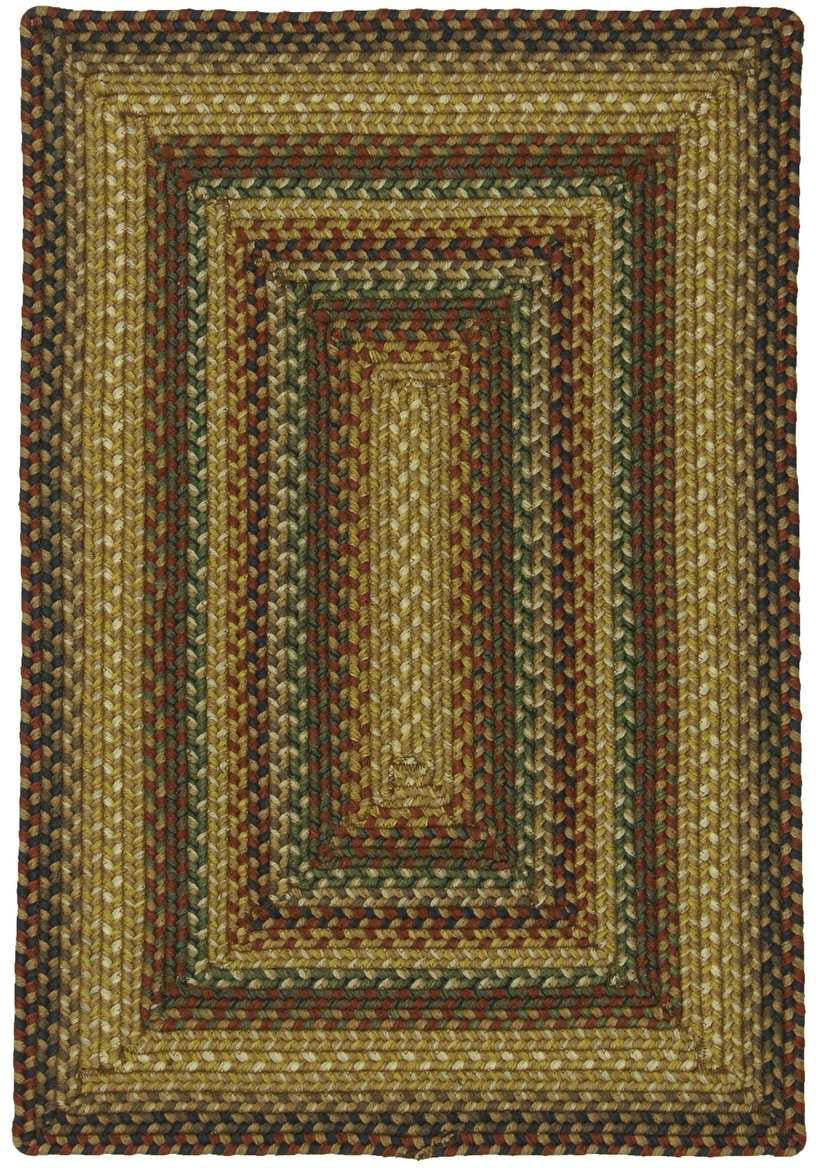 Homespice Decor Ultra Wool Braided Concentric Area Rug