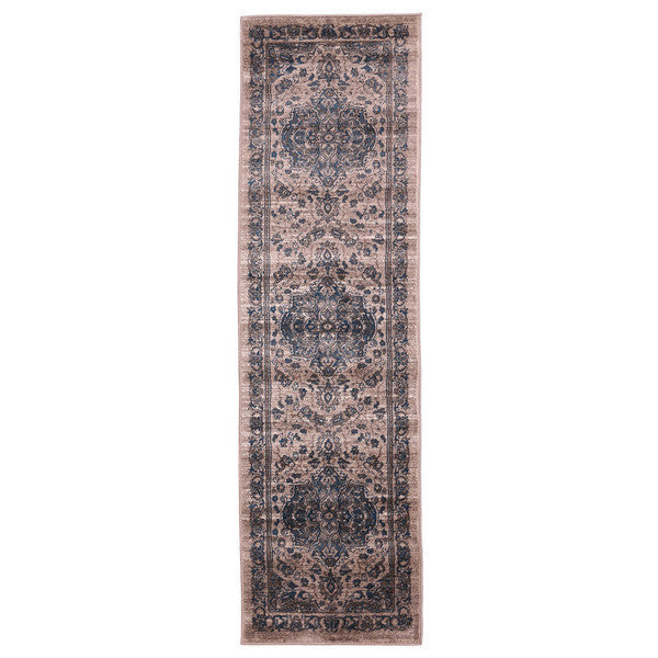 "Liberty Oriental Rugs Island Machine Made Beige Runner Rug (2'3"" x 7'6"")"