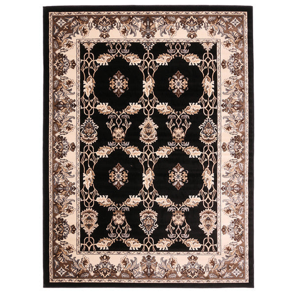 "Liberty Oriental Rugs Island Machine Made Black Area Rug (4'11"" x 7'8"" Rectangle)"