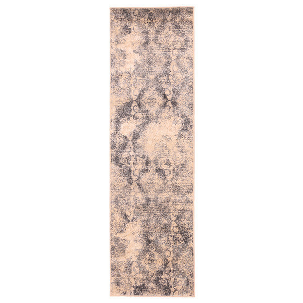 "Liberty Oriental Rugs Island Machine Made Cream Runner Rug (2'3"" x 7'6"")"
