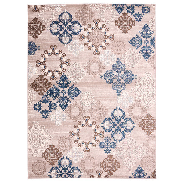 "Liberty Oriental Rugs Island Machine Made L. Beige Area Rug (4'11"" x 7'8"" Rectangle)"