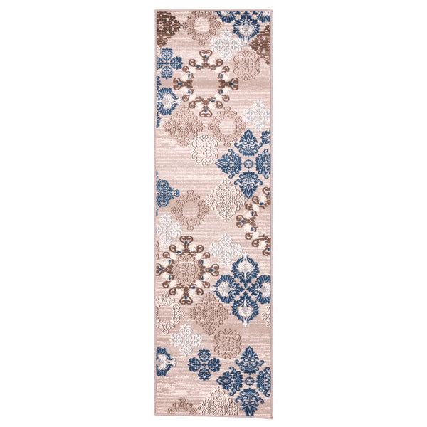 "Liberty Oriental Rugs Island Machine Made L. Beige Runner Rug (2'3"" x 7'6"")"