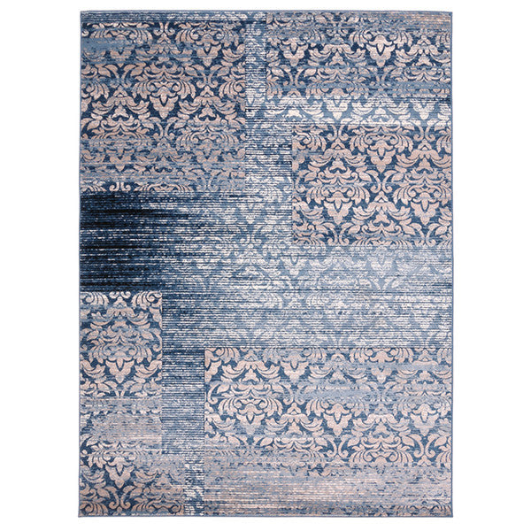 "Liberty Oriental Rugs Island Machine Made L. Blue Area Rug (7'6"" x 9'10"" Rectangle)"