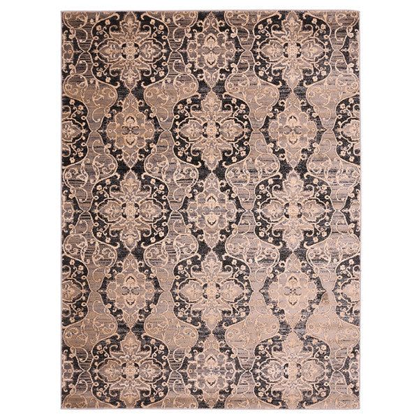 "Liberty Oriental Rugs Island Machine MadeL. Grey Area Rug (3'3"" x 4'11"" Rectangle)"