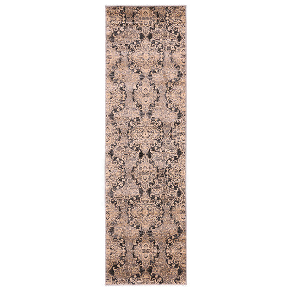 "Liberty Oriental Rugs Island Machine Made L. Grey Runner Rug (2'3"" x 7'6"")"