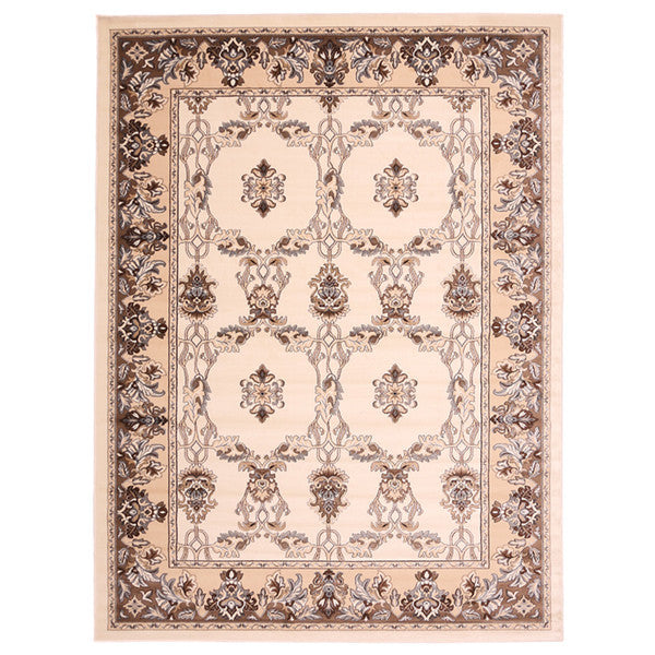 "Liberty Oriental Rugs Island Machine Made White Area Rug (4'11"" x 7'8"" Rectangle)"