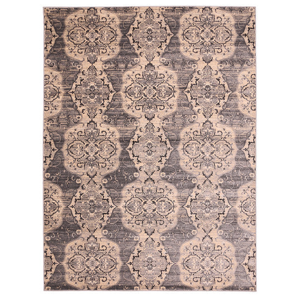 "Liberty Oriental Rugs Island Machine Made L. Grey Area Rug (7'6"" x 9'10"" Rectangle)"