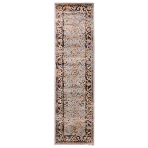 "Liberty Oriental Rugs Jas Machine Made L. Blue Area Rug (2'3"" x 7'6"" Rectangle)"