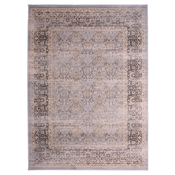 "Liberty Oriental Rugs Jas Machine Made L. Blue Area Rug (7'6"" x 9'10"" Rectangle)"