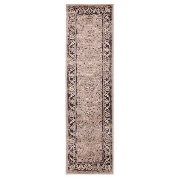 "Liberty Oriental Rugs Jas Machine Made L. Grey Area Rug (2'3"" x 7'6"" Rectangle)"