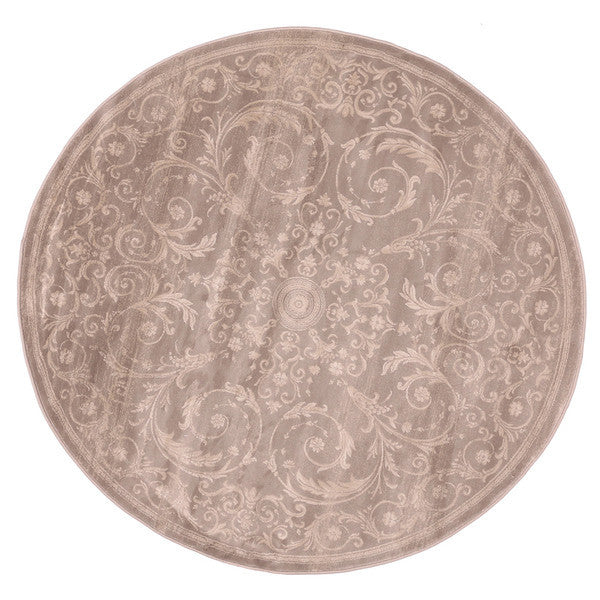 "Liberty Oriental Rugs Jas Machine Made L. Grey Round Rug (5'7"" x 5'7"")"