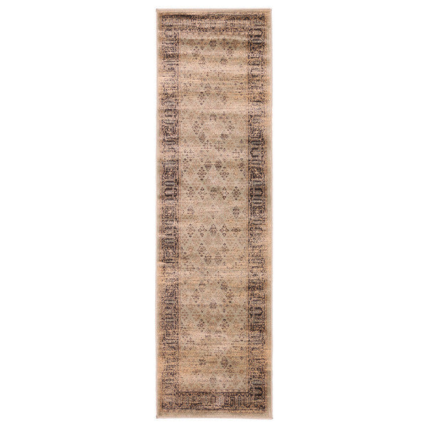 "Liberty Oriental Rugs Jas Machine Made S. Green Area Rug (2'3"" x 7'6"" Rectangle)"