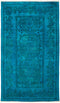 "Vibrance, 3x5 Blue Wool Area Rug - 3' 1"" x 5' 3"""