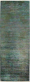 "Vibrance, Green Wool Runner Rug - 3' 0"" x 8' 4"""