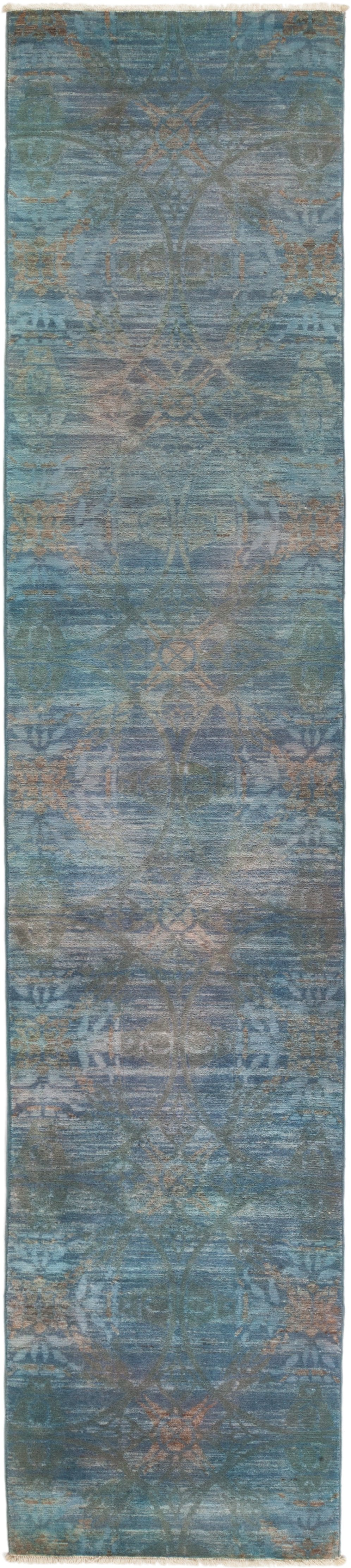 "Vibrance, Blue Wool Runner Rug - 2' 7"" x 11' 10"""