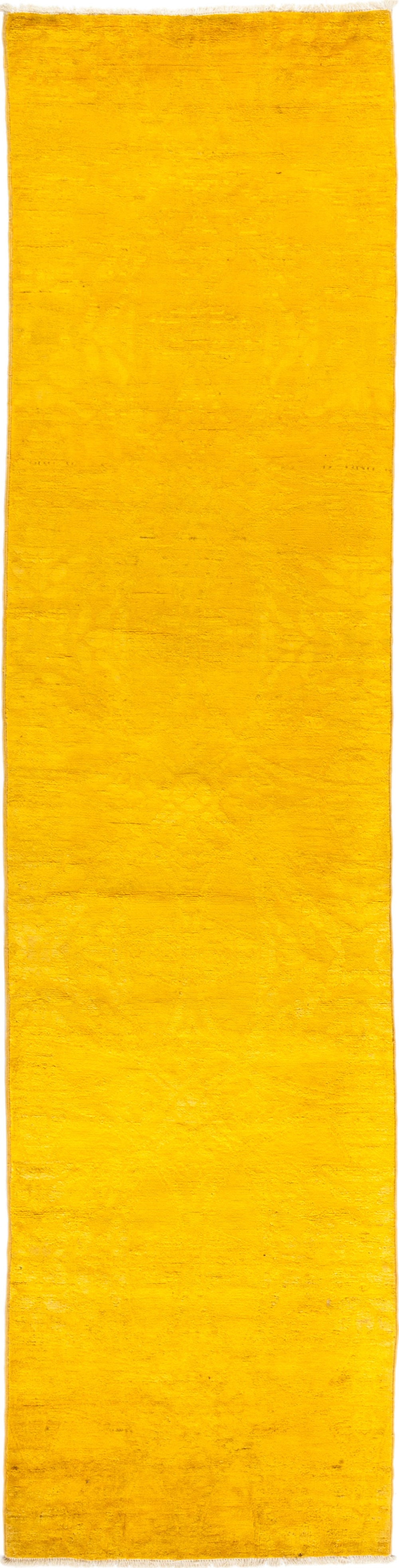 "Vibrance, Yellow Wool Runner Rug - 2' 7"" x 10' 3"""