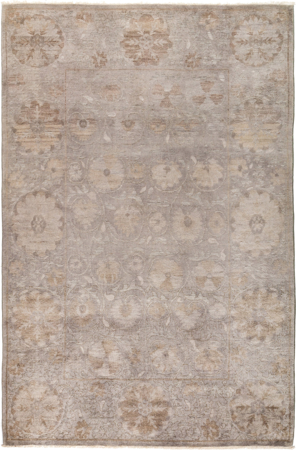 "Vibrance, 6x9 Gray Wool Area Rug - 6' 2"" x 9' 3"""
