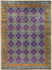"Suzani, 12x15 Purple Wool Area Rug - 12' 3"" x 16' 3"""
