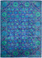 "Suzani, 10x14 Blue Wool Area Rug - 10' 4"" x 14' 2"""