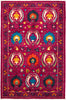 "Suzani, 4x6 Purple Wool Area Rug - 4' 2"" x 6' 5"""