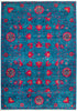 "Suzani, 4x6 Blue Wool Area Rug - 4' 3"" x 6' 0"""