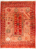 "Tullu, 9x12 Red Wool Area Rug - 8' 10"" x 11' 10"""
