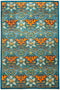 "Eclectic, 6x9 Green Wool Area Rug - 6' 1"" x 9' 3"""