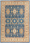"Ziegler, 5x8 Blue Wool Area Rug - 5' 6"" x 7' 9"""