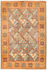 "Ziegler, 5x8 Orange Wool Area Rug - 4' 9"" x 7' 0"""