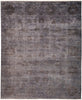 "Vibrance, 8x10 Gray Wool Area Rug - 8' 2"" x 9' 10"""