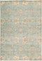 "Oushak, 6x9 Blue Wool Area Rug - 6' 3"" x 9' 0"""