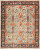 "Serapi, 8x10 Blue Wool Area Rug - 8' 3"" x 10' 2"""