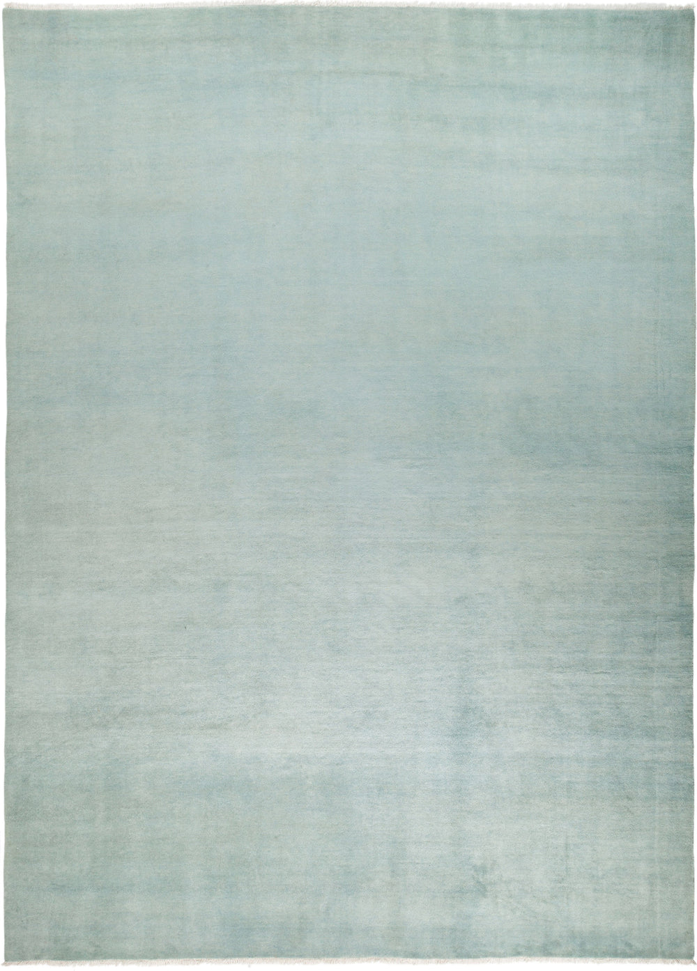 "Solids, 9x12 Blue Wool Area Rug - 9' 0"" x 12' 2"""