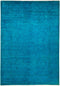 "Vibrance, 6x9 Blue Wool Area Rug - 6' 2"" x 8' 9"""