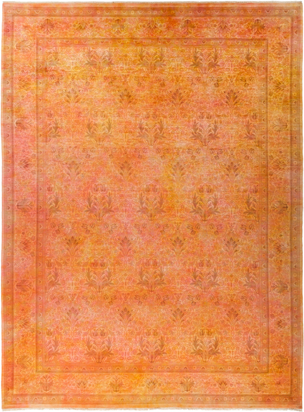 "Vibrance, 10x14 Orange Wool Area Rug - 10' 0"" x 13' 5"""