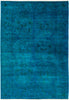 "Vibrance, 6x9 Blue Wool Area Rug - 6' 1"" x 8' 7"""