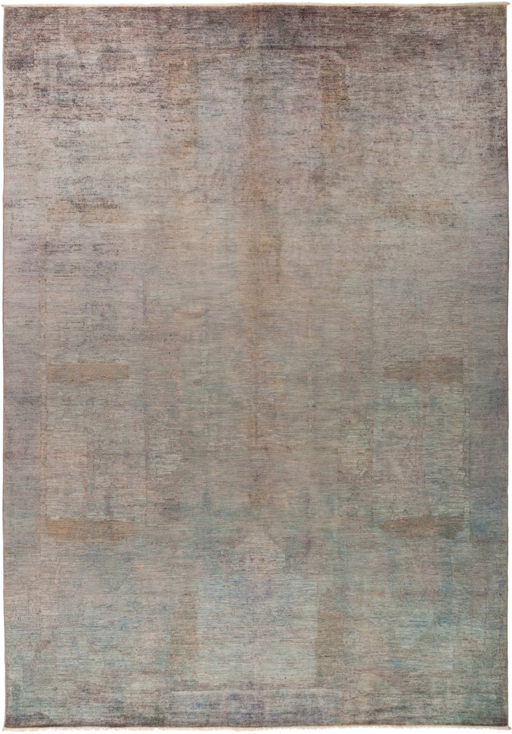 "Vibrance, 10x14 Gray Wool Area Rug - 9' 8"" x 13' 9"""