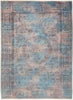 "Vibrance, 6x9 Blue Wool Area Rug - 6' 3"" x 8' 6"""