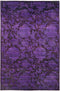 "Vibrance, 6x9 Purple Wool Area Rug - 6' 0"" x 9' 4"""
