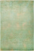 "Vibrance, 6x9 Green Wool Area Rug - 6' 1"" x 9' 1"""