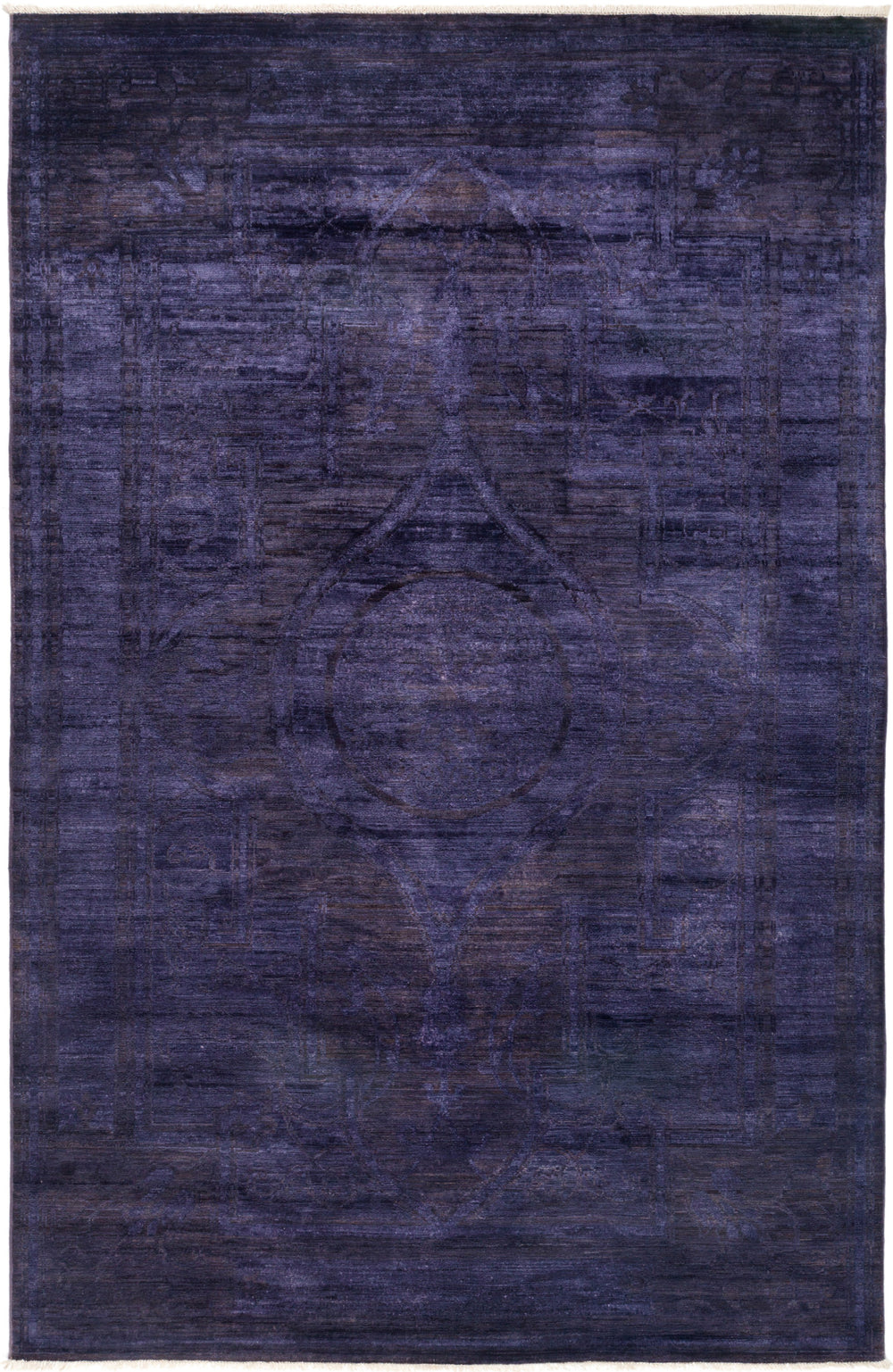 "Vibrance, 6x9 Purple Wool Area Rug - 5' 10"" x 9' 1"""